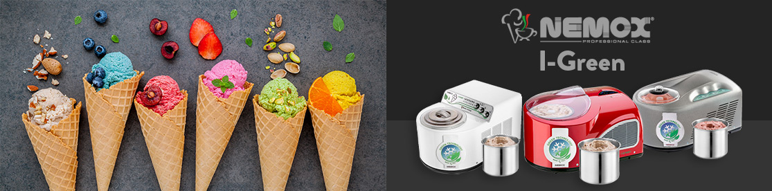 Nemox I-Green : les nouvelles machines à glaces à faible impact environnemental